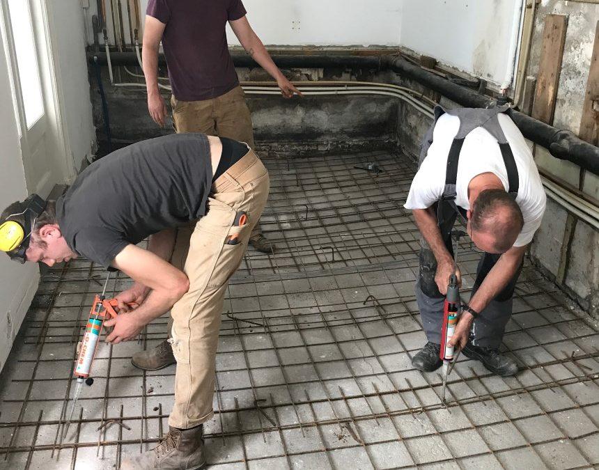 Nieuwe vloer beton