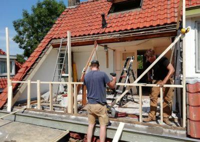 Aanbouw met dakterras
