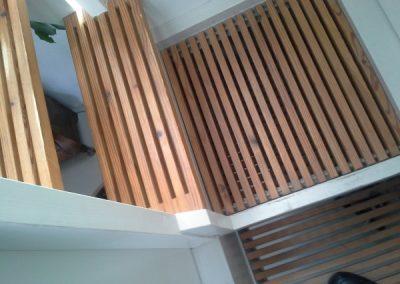 Decoratieve hardhouten trap